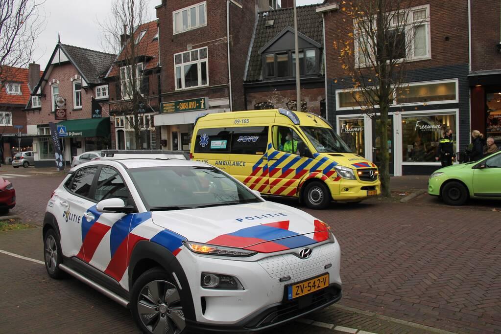 Ongeval tussen personenauto en scootmobiel