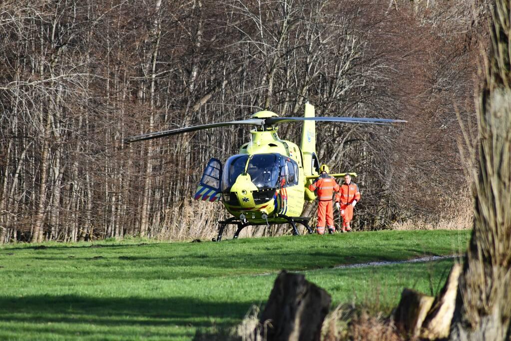 Traumahelikopter ingezet voor steekincident