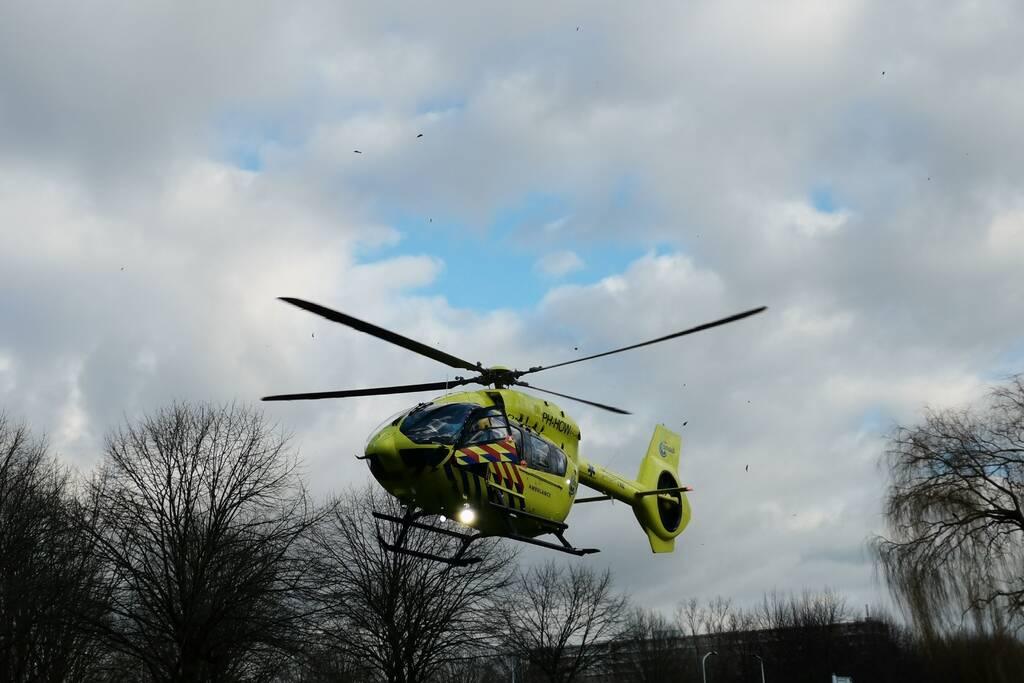 Coronapatiënt overgebracht per traumahelikopter