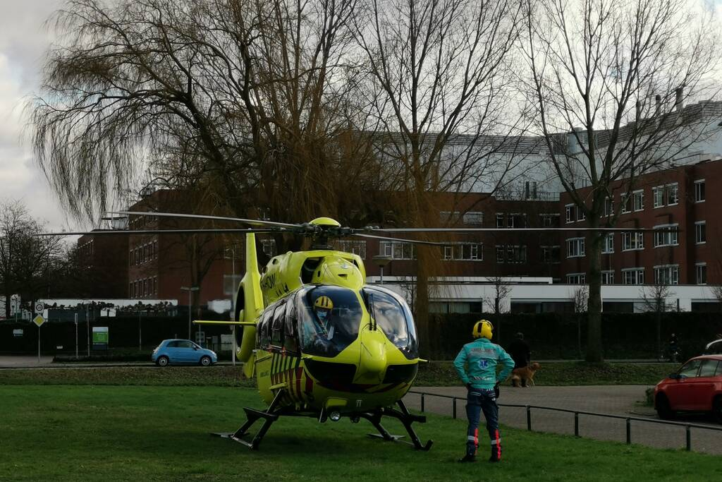 Coronapatiënt overgebracht per traumahelikopter