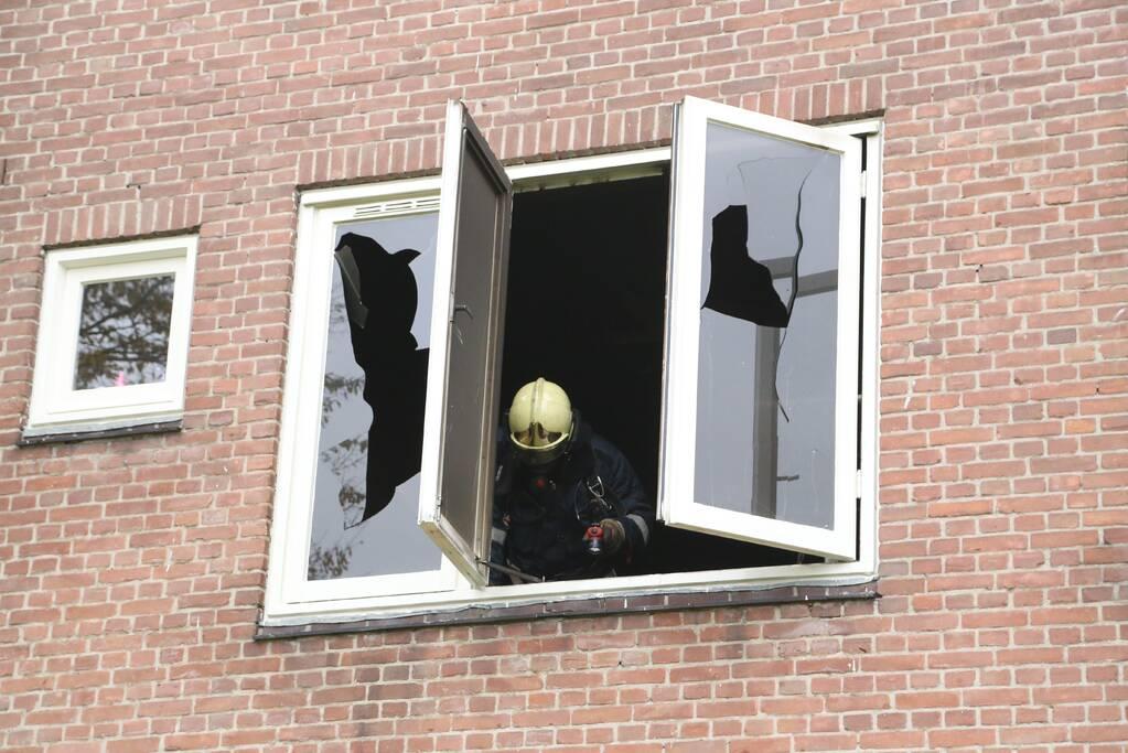 Forse schade aan woning door woningbrand