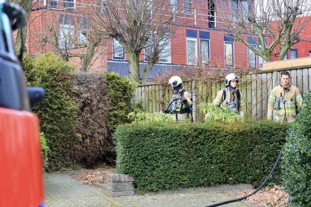Tuinheg in brand gestoken