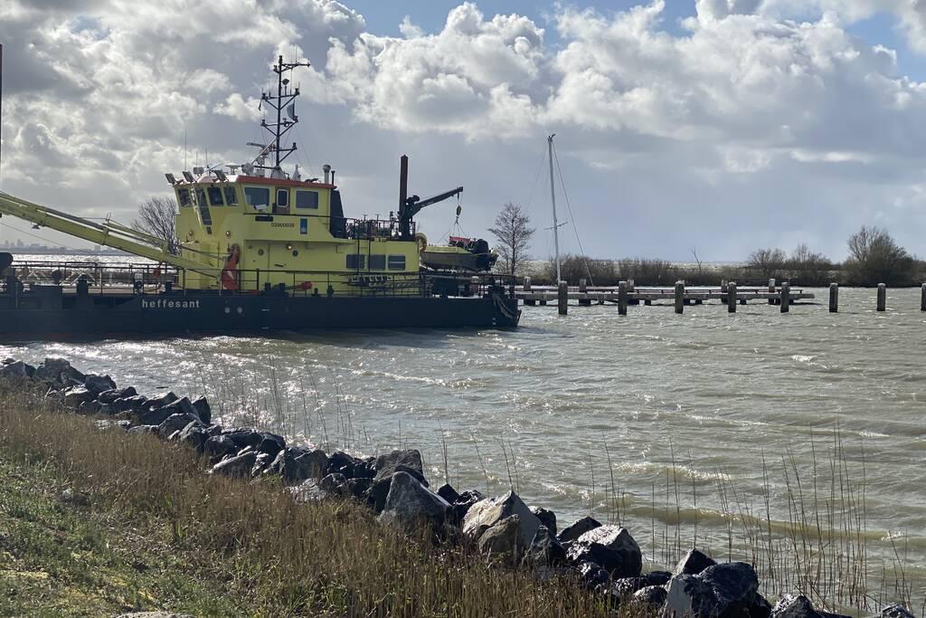 Zeilboot gezonken in Oostvaardersdiep