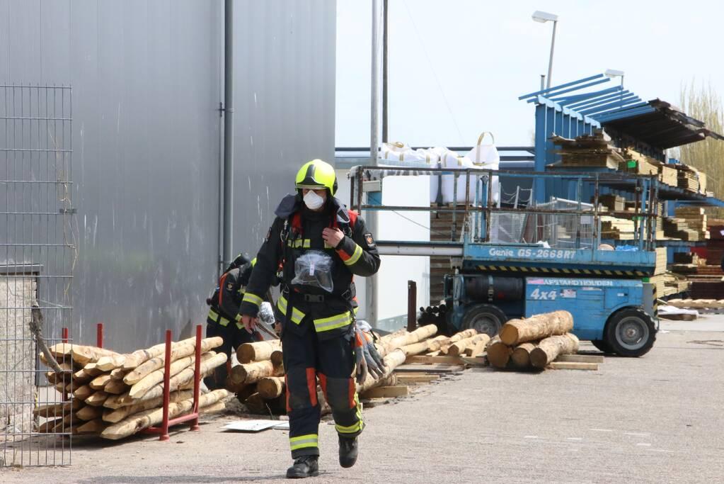 Gasleiding geraakt bij werkzaamheden Van Kempen Houthandel