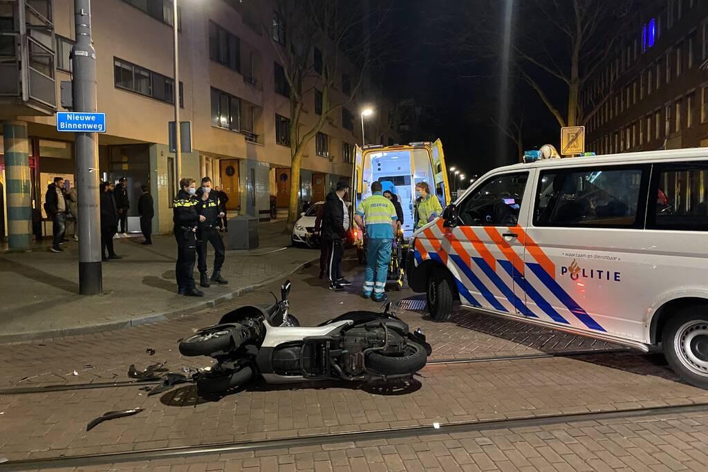 MP3 rijder gewond bij ongeval