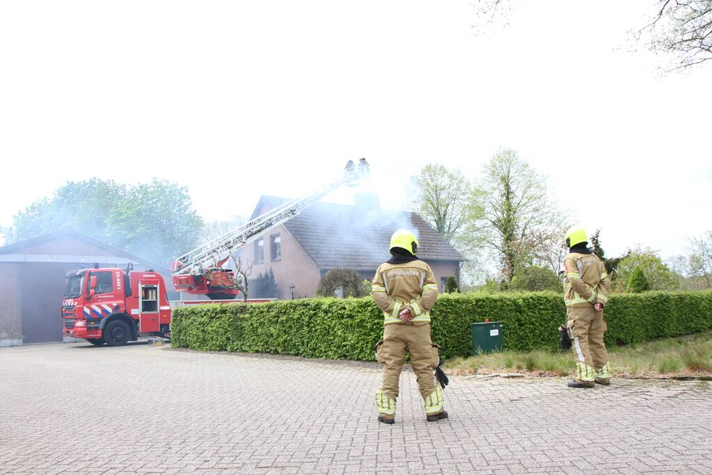 Forse rookontwikkeling bij schoorsteenbrand