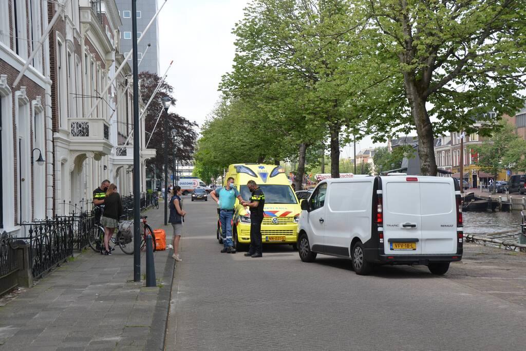 Bezorgfietser gewond bij aanrijding