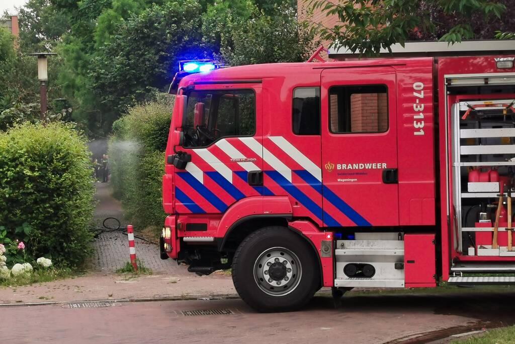 Overkapping vat vlam door barbecue
