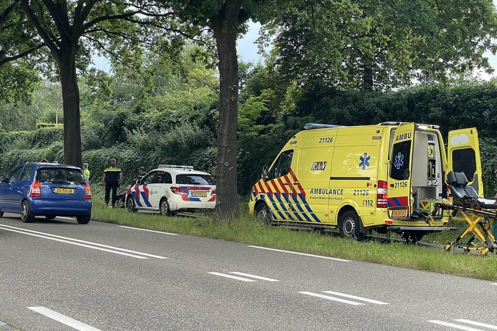 Voetganger gewond door botsing met scooterrijder