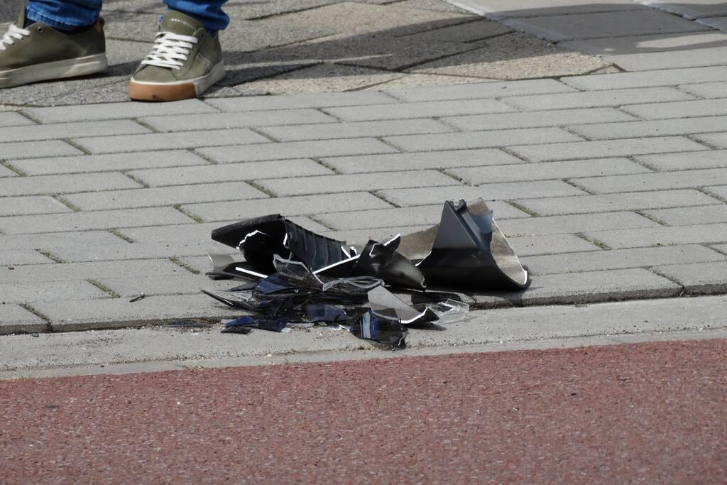 Scooterrijdster gewond door val