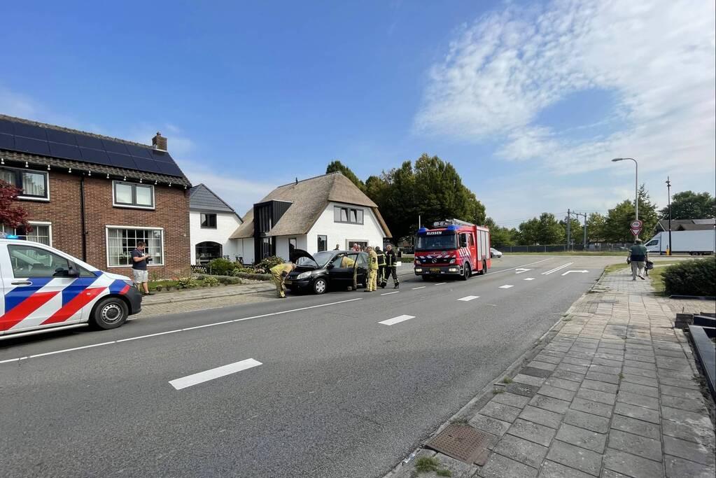 Brand in personenwagen snel geblust