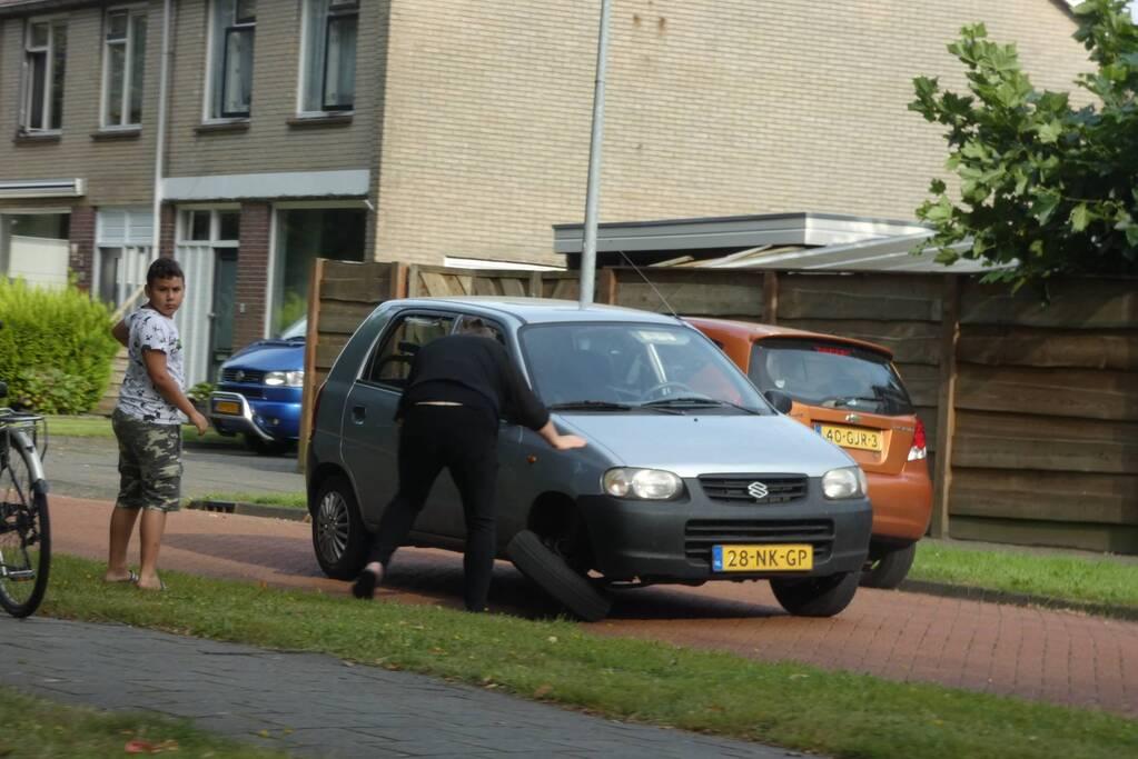 As van auto afgebroken na een botsing