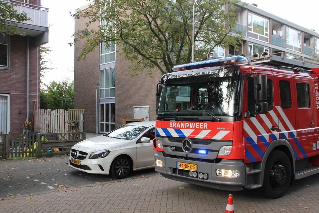 Brandweer ingezet voor gaslekkage in woning