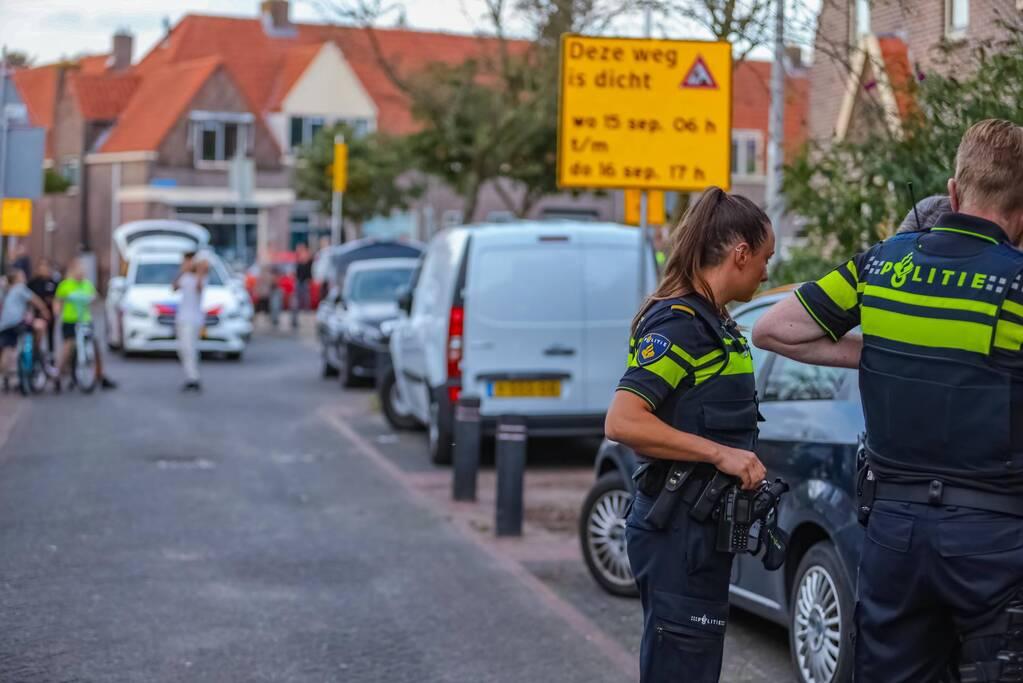 Grote politieopkomst door incident