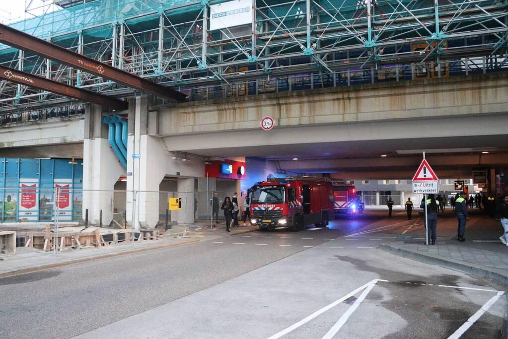 Brand in stationsgebouw snel geblust