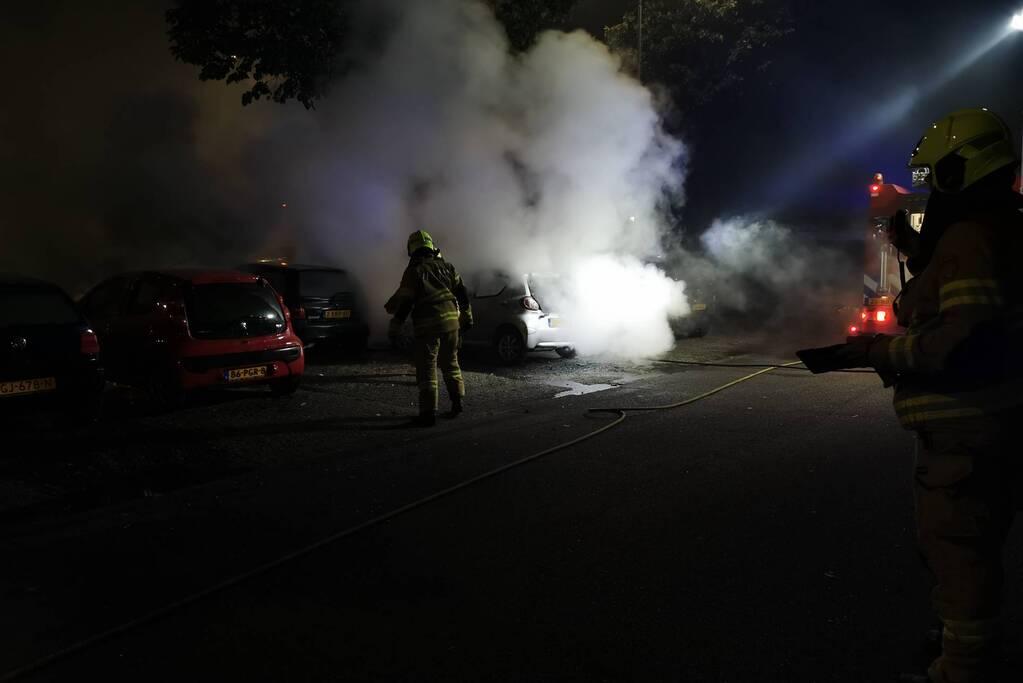 Meerdere voertuigen in brand