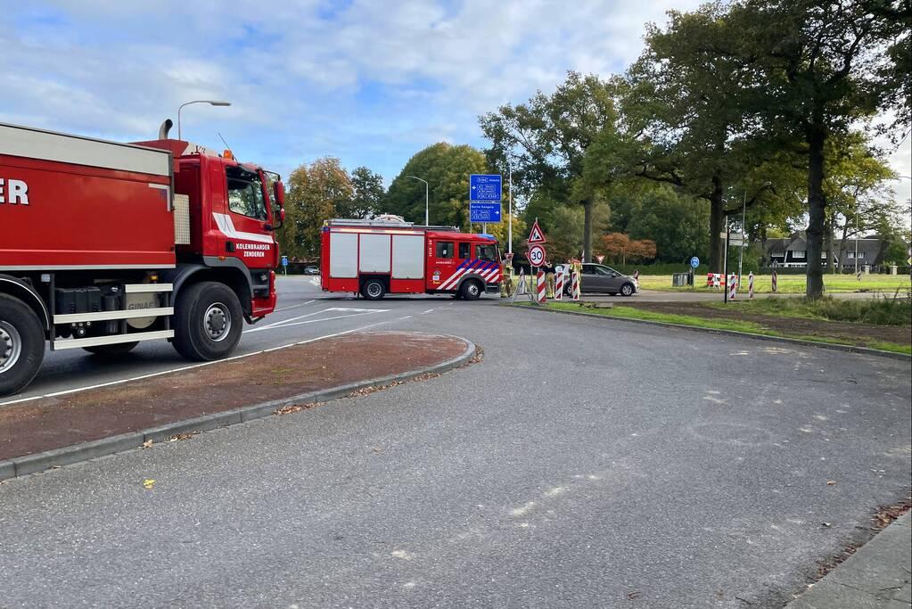 Vastgelopen remmen zorgen voor brand in bulkoplegger