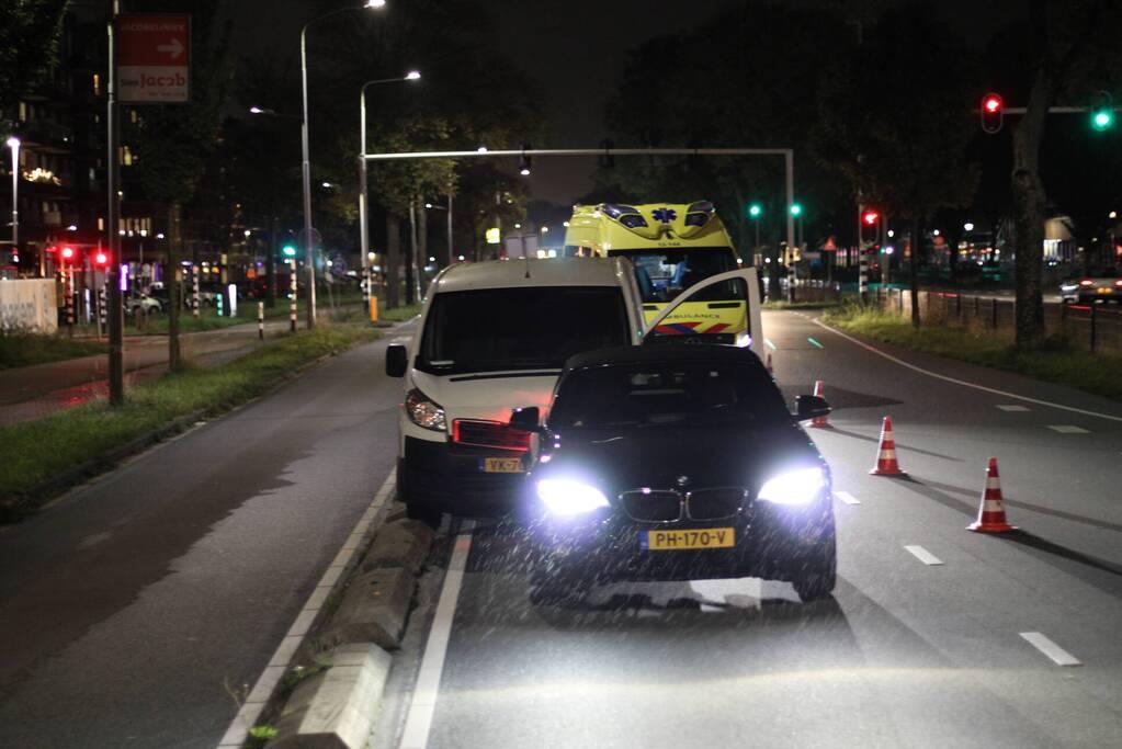 Ongeval tussen bestelbus en auto