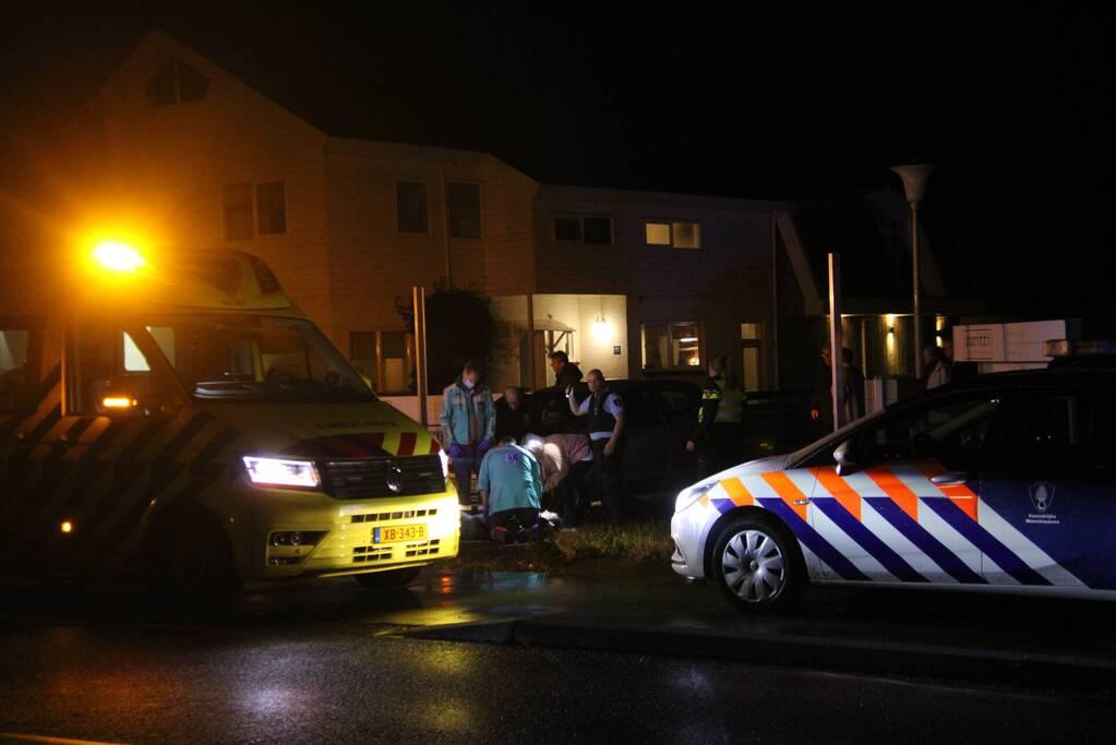 Personenauto in botsing met bromfietser