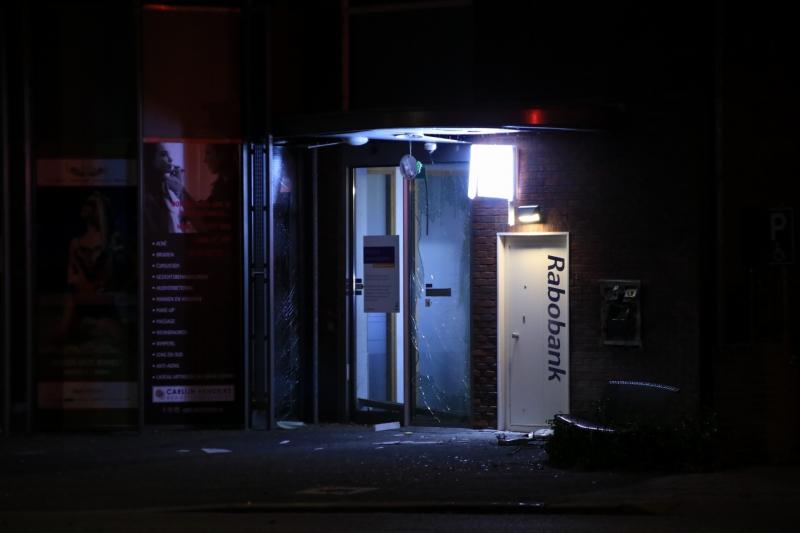 Plofkraak op pinautomaat van Rabobank
