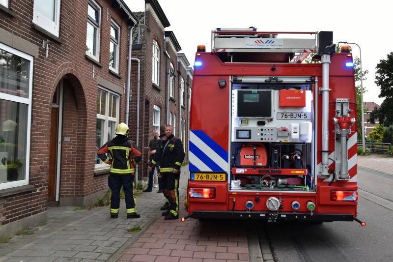 Brand in meterkast voor de hoofdzekering
