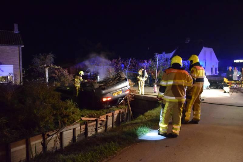 Personenauto belandt op de kop na ongeval, Provincialeweg - N831 Velddriel - Hardnieuws