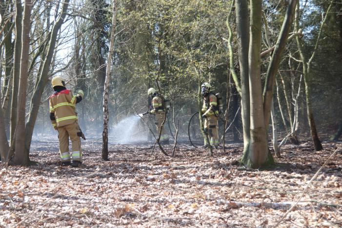 Brand in groot stuk bossage
