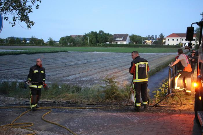 Bermbrand snel onder controle