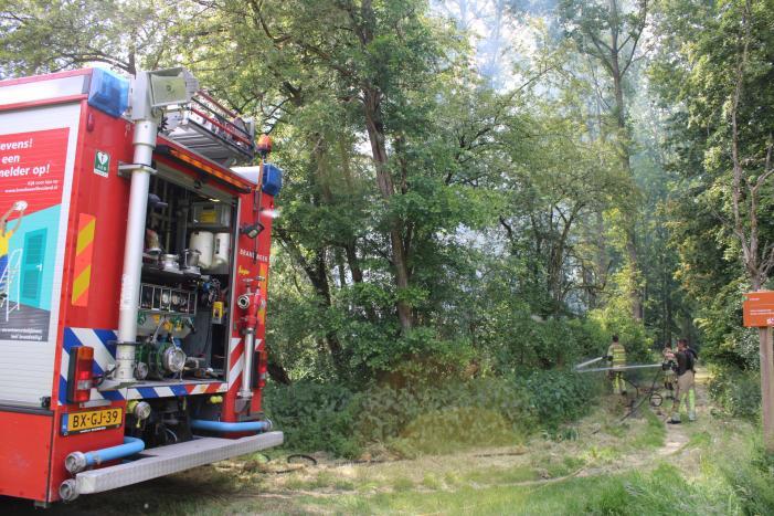 Veel rook bij brand in bosgebied