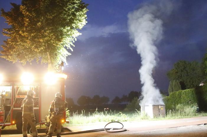 Veel rook bij brand in transformatorhuis
