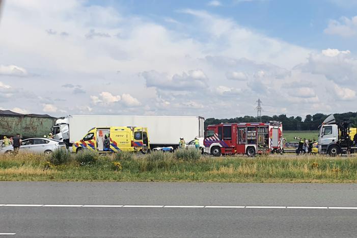 Zeer ernstig ongeval tussen twee vrachtwagens