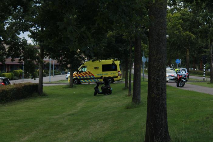 Gewonde bij ongeval met scooter