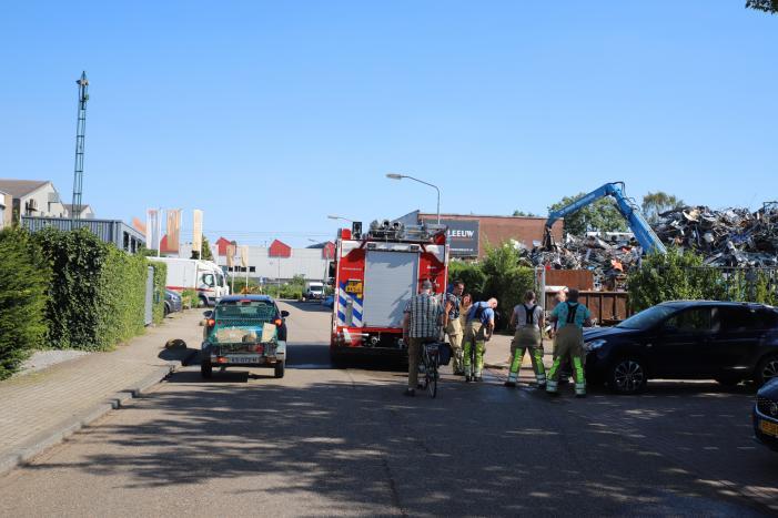 Brand bij schroothandel De Bruin Recycling