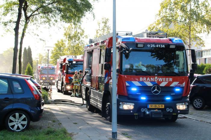 Flinke rookontwikkeling bij brand in kelder
