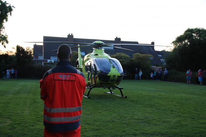 Traumahelikopter landt voor incident