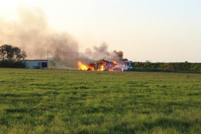 Clubhuis van crossvereniging Kooypunt verwoest door brand