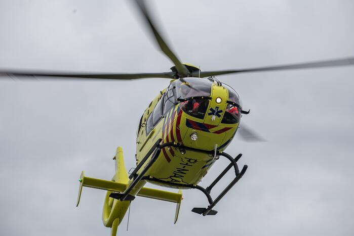 Traumahelikopter ingezet voor ongeval