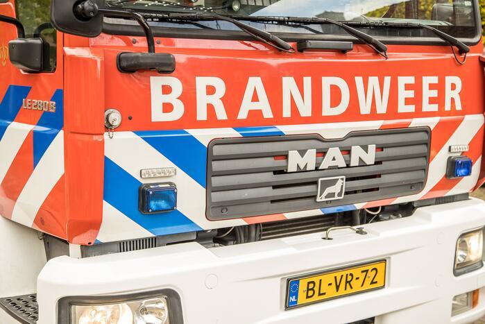 Bewoner uit woning gered bij brand