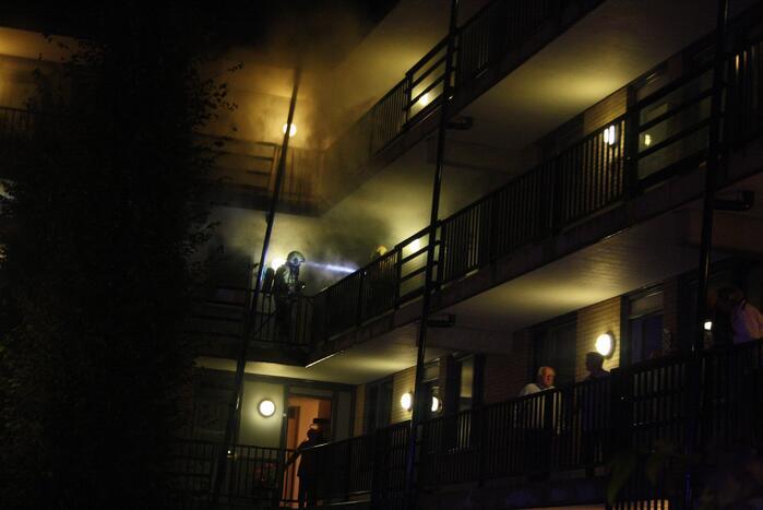 Brand door mogelijke kortsluiting in flat