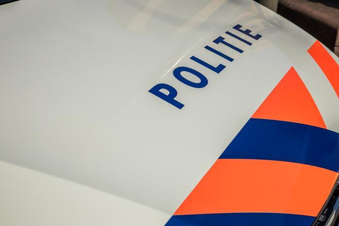 Auto beschadigd tijdens politieachtervolging