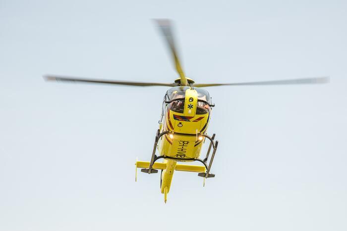 Traumahelikopter ingezet bij ernstig ongeval