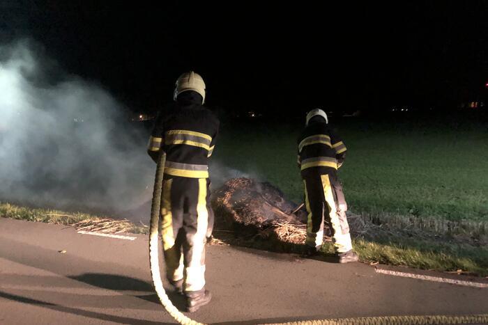 Bult gras in brand gevlogen