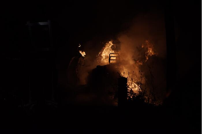 Scooter volledig uitgebrand