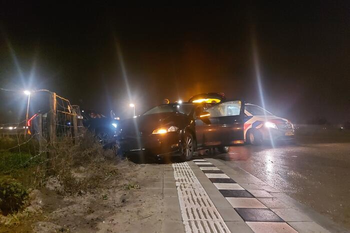 Twee voertuigen betrokken bij botsing