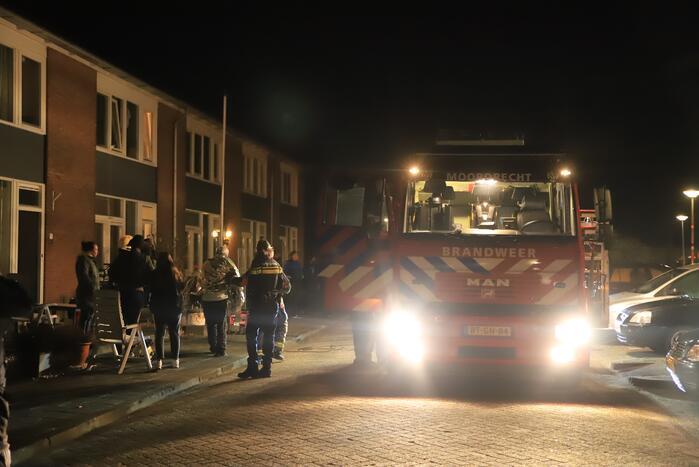 Persoon gewond bij brand in woning
