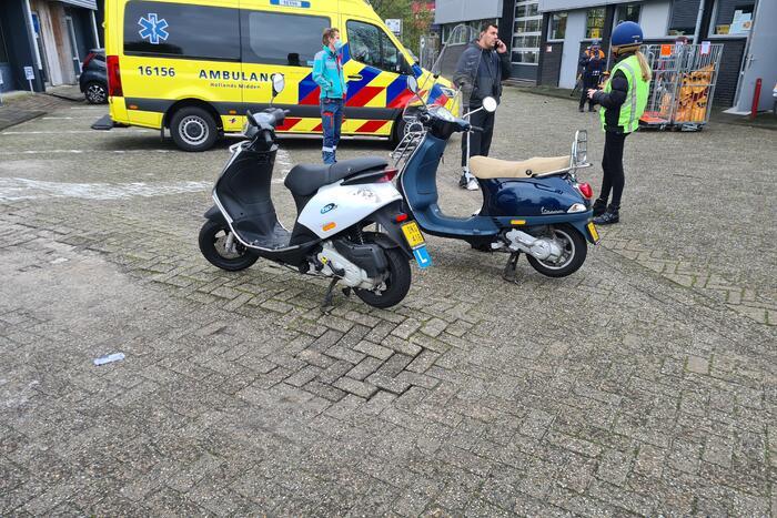 Les-scooter betrokken bij verkeersongeval