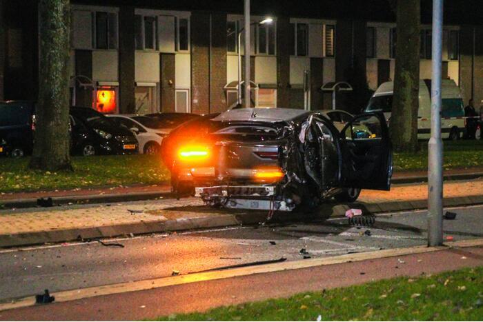Zwaargewonde bij ernstig ongeval, mogelijk straatrace