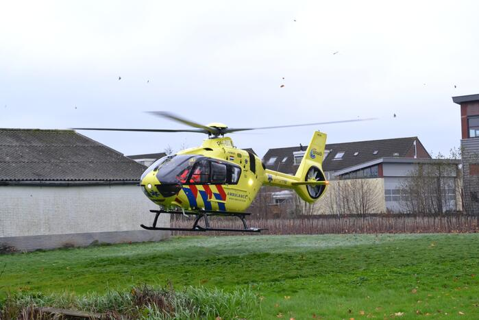 Traumahelikopter landt voor incident