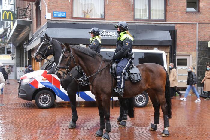 Veel politie door demonstratie voor Zwarte Piet