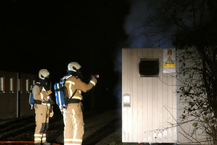 Brand in transformatorhuisje